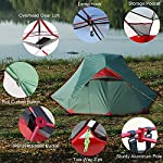 WhiteHills 2 Person Backpacking Tent Lightweight Outdoor Tent with Removable Rain Fly, Easy Setup Durable Camping Tent…