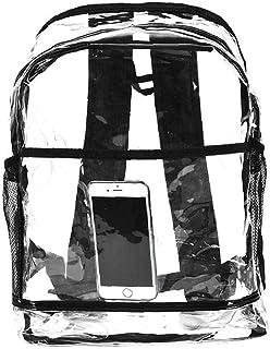 Berrywho 1PC Mochila PVC Transparente y Relleno Ajustable Mochila pequeña (Transparente)