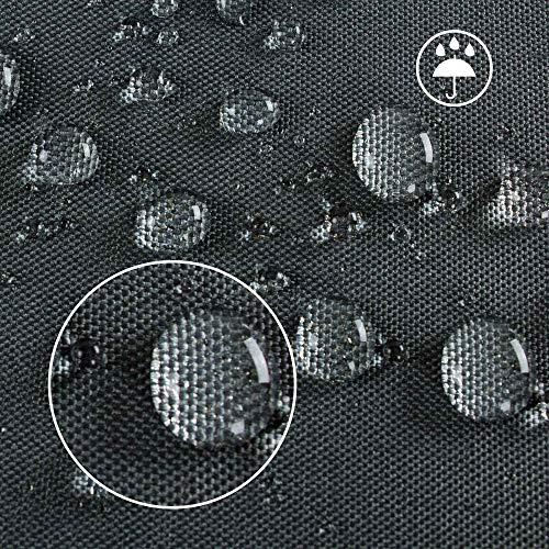 HENTEX Schutzhülle Cover Eckbank für Gartenmöbel Abdeckung L-Form, Grau, 255x255x100x70H cm - 6