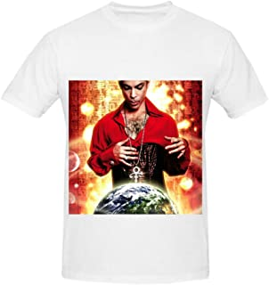 Prince Planet Earth Men O Neck Printed T Shirts White