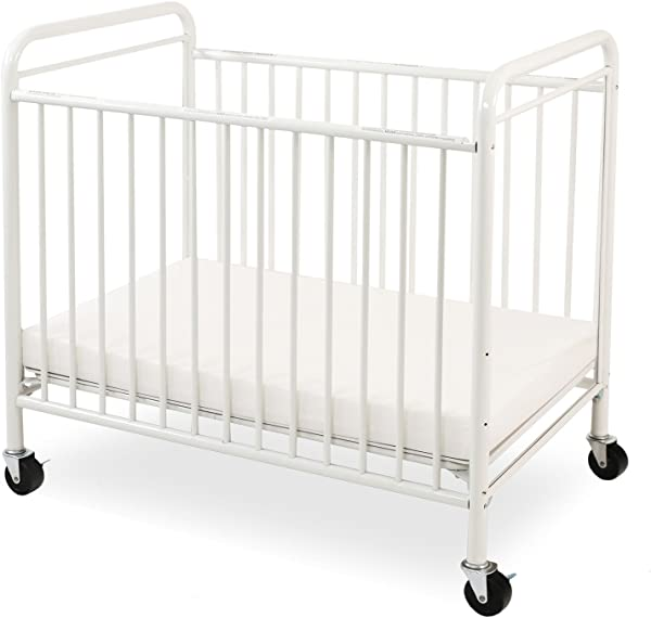 LA Baby The Condo Metal Evacuation Window Crib White
