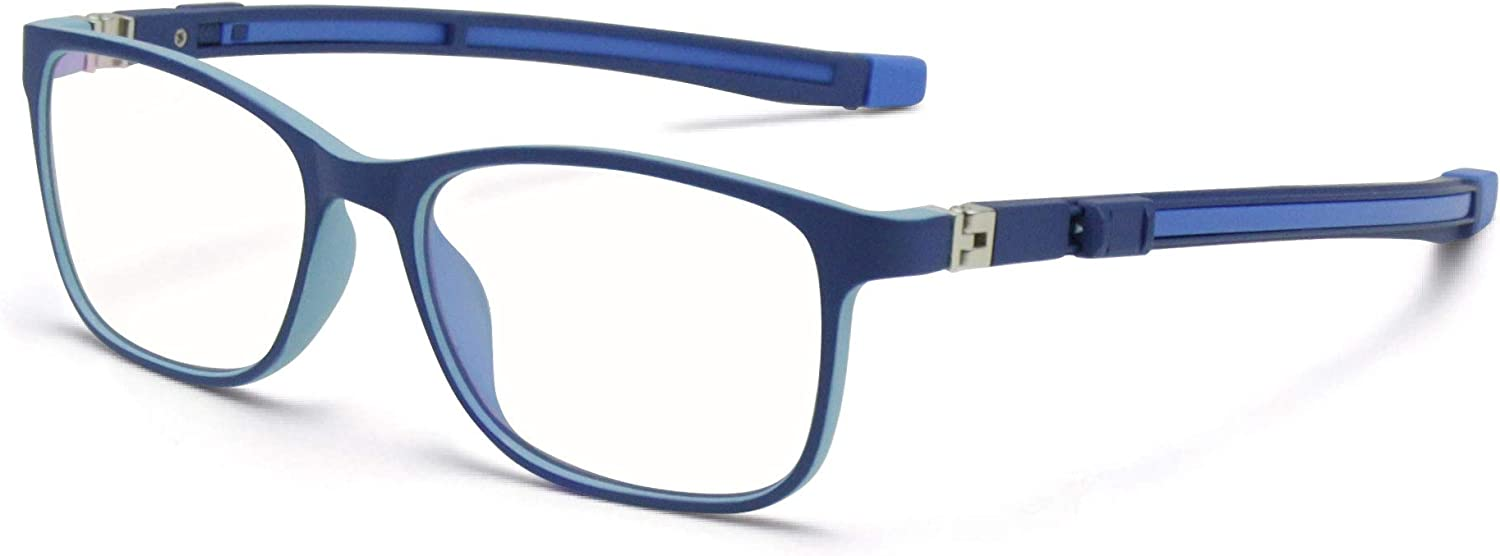 TYKEVO Kids New item Blue Light Max 72% OFF Blocking Stretchable Silicone Ey Glasses