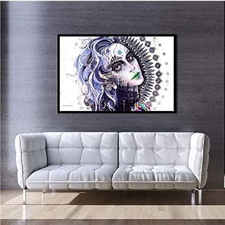 Lienzo abstracto Cartel Arte de la pared Maquillaje Chica paisaje natural Animal Lienzo Pintura Imagen para Salón de belleza Decoración para el hogar A 50 * 70 cm