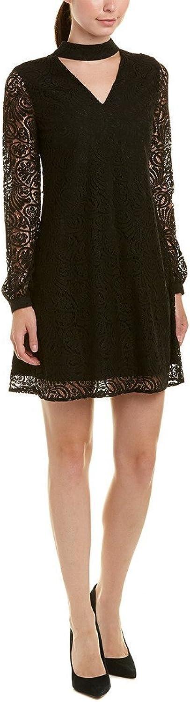C&E CeCe Womens Paisley Lace Mock Choker Mini Dress