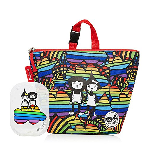 Babymel Insulated Lunch Bag/Lunchbox with Ice pack - Zip & Zoe Range (Rainbow Multi)