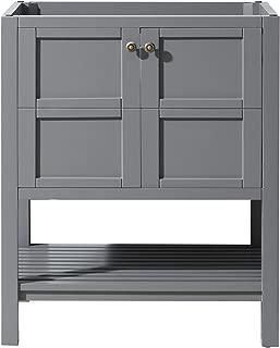 Virtu USA ES-30030-CAB-GR Winterfell Bathroom Vanity, 30 inches, Cool Gray