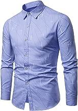 MIS1950s Men's Shirts Casual Print Long Sleeve Slim Fit Lapel Business Tops Blouse