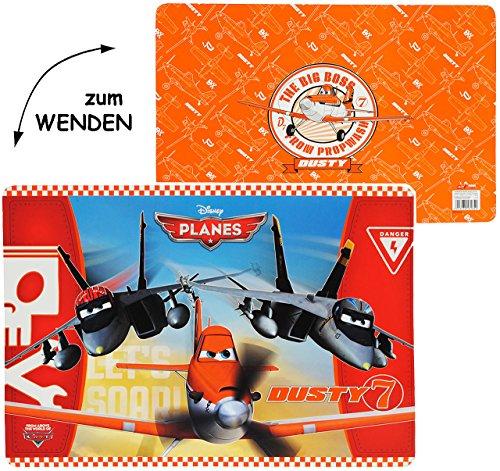 alles-meine.de GmbH Wende - Unterlage -  Disney Planes - Flugzeuge Dusty  - 42 cm * 30 cm - beidseitig Bedruckt & beschichtet - Tischunterlage / Platzdeckchen / Malunterlage / ..