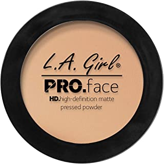 L.A. Girl Pro Face HD Matte Pressed Powder, Nude Beige, 0.25 Ounce (Pack of 3)