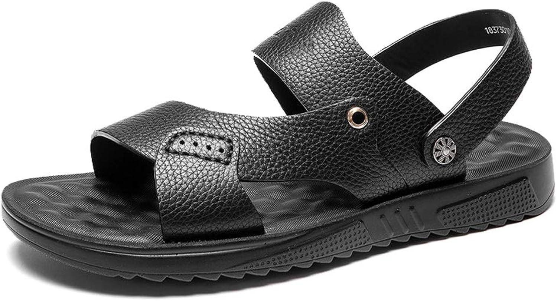 Herren Open Toe Sandalen Casual Leder Bequeme Schuhe Wandern Outdoor Sports Strand Hausschuhe B07Q2N594W  | Flagship-Store