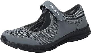 LANSKIRT Zapatillas Running de Mujer Sin Cordones Zapatos de Verano 2019 Velcro Moda Sandalias de Antideslizantes Zapatill...