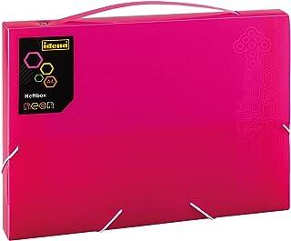 Idena 13860Boîte de classement PP, DIN A4, 25x 32x 3cm, Neon/Rose