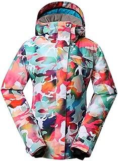 Traje de esquí JSGJHXFCamuflaje Ropa de Nieve para Mujer Ropa Deportiva al Aire Libre Conjuntos de Snowboard Impermeable a Prueba de Viento Disfraz Abrigo de Nieve y Baberos Pantalón de esquí
