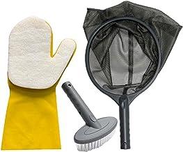 Zwembadreinigingsset met skimmernet voor zwembad, Zachte schrobborstel, Sponsreinigingshandschoen voor zwembad tuinvijver ...