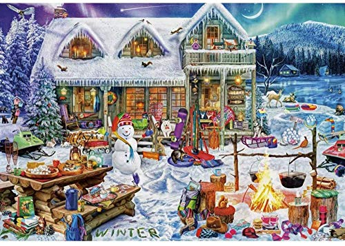 XiuTaiLtd Jigsaw Puzzles 1000 Pieces for Adults for Xmas, Perfectly Wood Jigsaw Puzzles,75X50Cm, for Friends