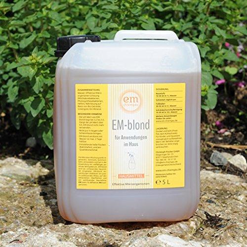 eM Chiemgau- EM-blond für Haus- und Tierpflege 5 l Ka.- mit Beschreibung