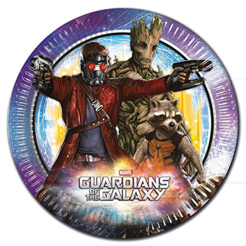 Unique Party 72017 - 23cm Marvel Guardians of the Galaxy Paper Plates, Pack of 8