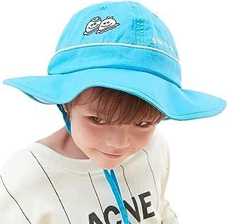 Siggi UPF50+ 4-10 Years Kid Bucket Sun Hat Foldable 51-53CM w/Chin Cord Floppy