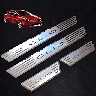 GLFDYC 4Pcs Stainless Steel Door Sill Scuff Kick Plates for MG ZS 2017 Protector Car Styling Tread Accessories Pedal Decoration Stickers,Blue