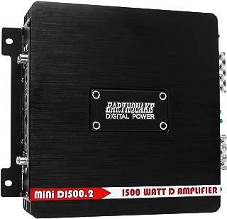 Earthquake Sound MiNi D1500.2 Stereo Class D 2-Channel Car Amplifier, 1500 Watts