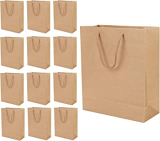 Valuxe 12 Pieces Bronzing Paper Party Bags, Gifts Wrapping Bags, Brown Kraft Paper Bag Bride, Birthday Gift Bag for Weddin...