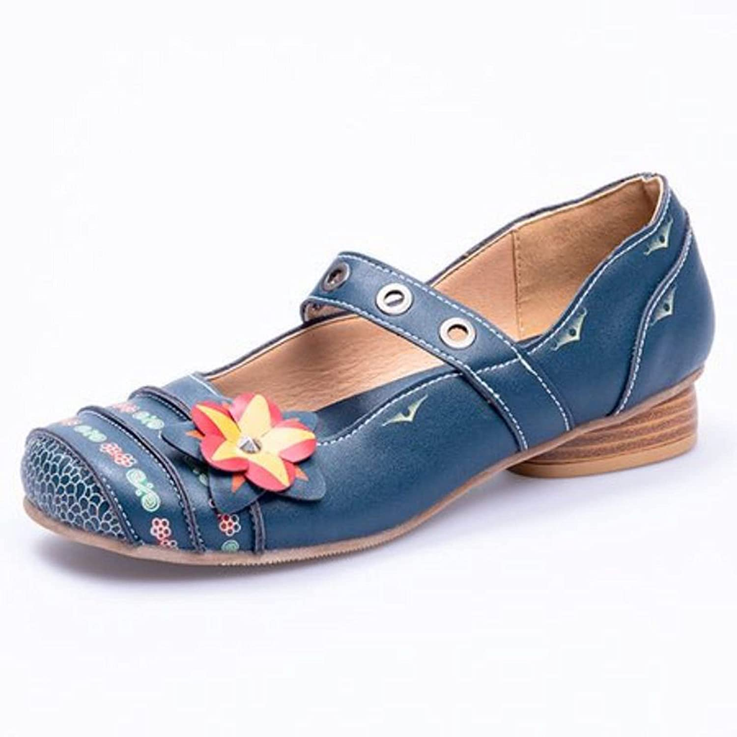 Olymmont Bohemian Ethnic Flat Shoes with Casu Max 85% OFF Women for Heel Low Ranking TOP8