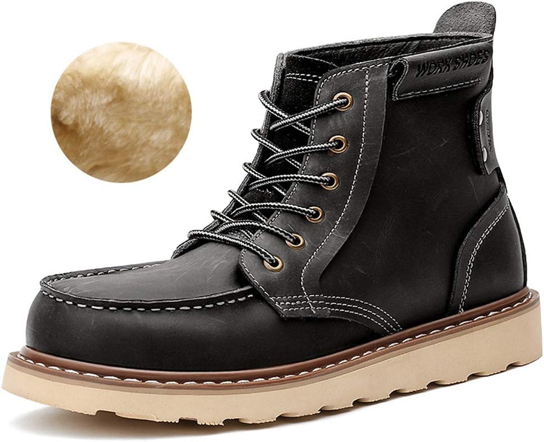 Men's shoes FEIFEI Men's High Help Martin Boots Winter Snow Warm Cotton shoes (color   01, Size   US11 EU43 UK9 CN44)