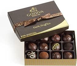 Godiva Chocolatier Dark Chocolate Truffles Gift Box, Premium Chocolate, 12 pc