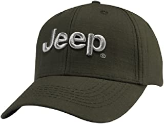 Jeep 3D Logo Cap,Olive Green,Adjustable