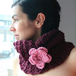 Crochet pattern textured snood / cowl teens to adults size (39) (Crochet Cowls Book 1)