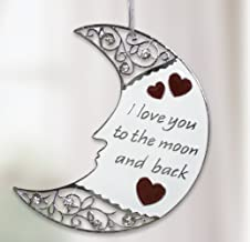 BANBERRY DESIGNS Silver Moon Ornament - I Love You to The Moon and Back Christmas Ornament with Loving Saying