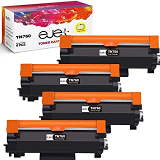 ejet TN760 TN-760 Compatible Toner Cartridge Replacement for Brother TN760 TN 760 TN730 to use with Brother HL-L2350DW DCP-L2550DW HL-L2395DW Hl-L2390DW HL-L2370DW (4 Black)