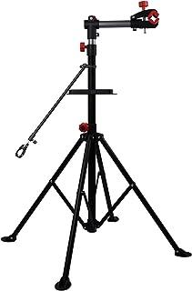 Hromee ポータブルプロメカニックバイク修理スタンド 高さ調節可能 自転車メンテナンスラック 作業台 ツールトレイ付き