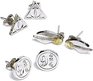 HARRY POTTER Symbols Mujer Set de Pendientes Plateado,