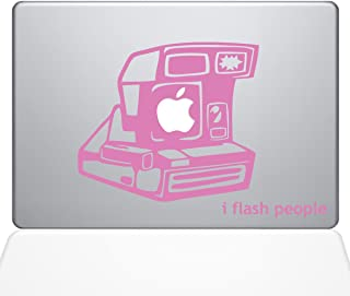 "The Decal Guru 1648-MAC-13X-BG I Flash People Vintage Camera Decal Vinyl Sticker, 13"" Macbook Pro (2016 & newer), Pink"