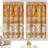 Cortinas opacas con bolsillo para barra, cortinas de armario de Hamsa, bordes ornamentados tradicionales, de 52 x 54 pulgadas