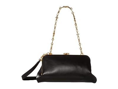 Tory Burch Cleo Bag (Black) Handbags