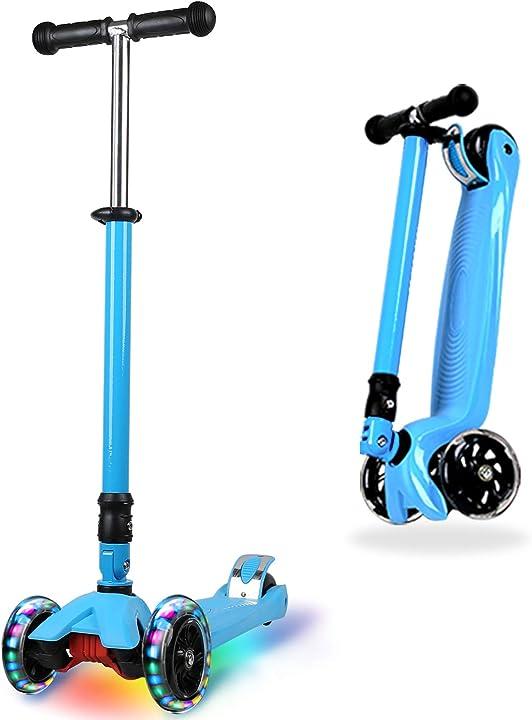 Monopattino pieghevole 3 ruotes scooter per bambino e bambina 3 a 14 anni bambini  immek SB918B