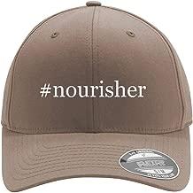 #nourisher - Adult Men's Hashtag Flexfit Baseball Hat Cap