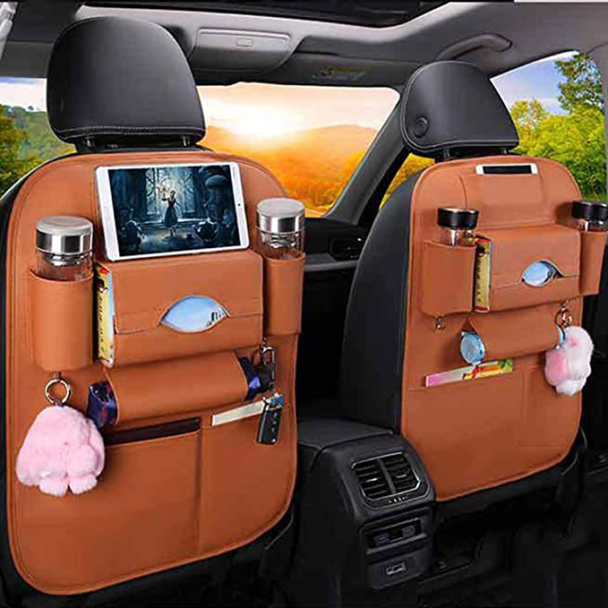 Sxlfdll Rückenlehnenschutz Auto Autositzschoner Rückenlehne Kinder Auto Organizer Rücksitz Kinder Mit10 Ipad Tablet Halter 2 Pack B Küche Haushalt