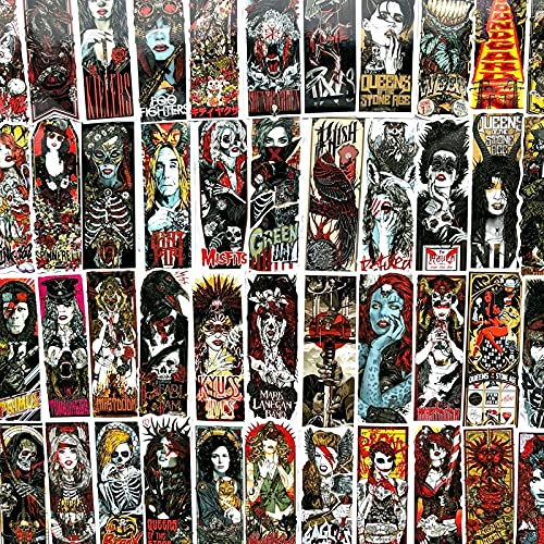 PMSMT 50 Uds gótico Horrible Rock Pegatinas Bomba Esqueleto patrón Oscuro Pegatina monopatín Guitarra Equipaje Motocicleta Coche portátil calcomanía