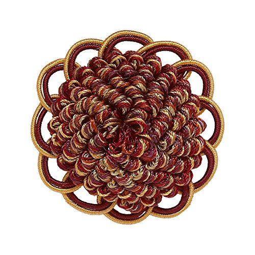 DÉCOPRO Decorative Rosette 64mm, Wine Gold/Baroque Collection Style# BR Color: Autumn Leaves - 5716