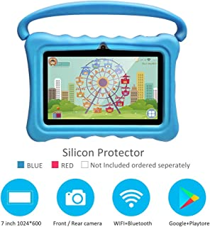 Kids Tablet Android Quad Core 7 inch Tablet for Kids Edition Tablet with WiFi Camera Games IPS Safety Eye Protection Screen 1GB 8GB Storage (Without case)