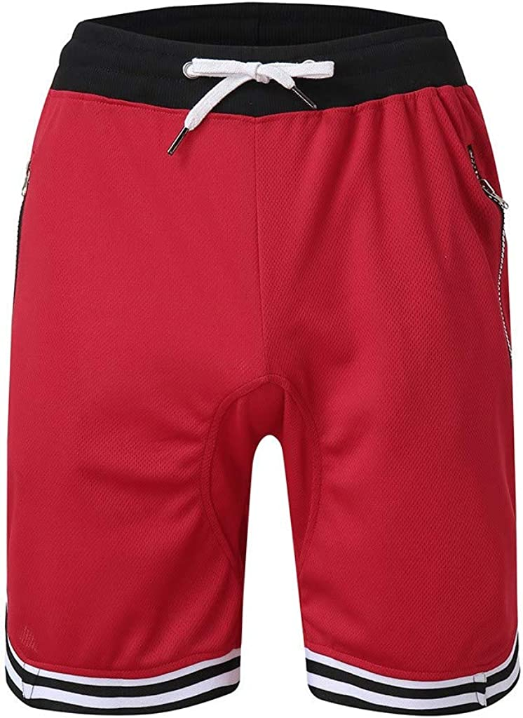 WoCoo Mens Boardshorts Quick Dry Stretch Mesh Surf Shorts with Zipper Pocket,Summer Beach Trunks