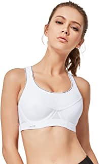 Yvette Sports Bras for Women High Impact Underwire Running Sports Bras for Plus Size