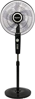 FLEXY® Germany 16 Inches 5 Leaf Adjustable Height 3 Speed Stand Fan - 2 Years Warranty