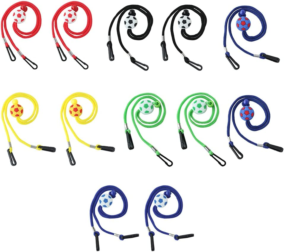 Scicalife 12pcs Kids Eyeglass Chain Sunglasses Cord Neck Strap Lanyards Glasses Necklace Holder Face Covering Fastener Anti Lost for Hat Mouth Cover