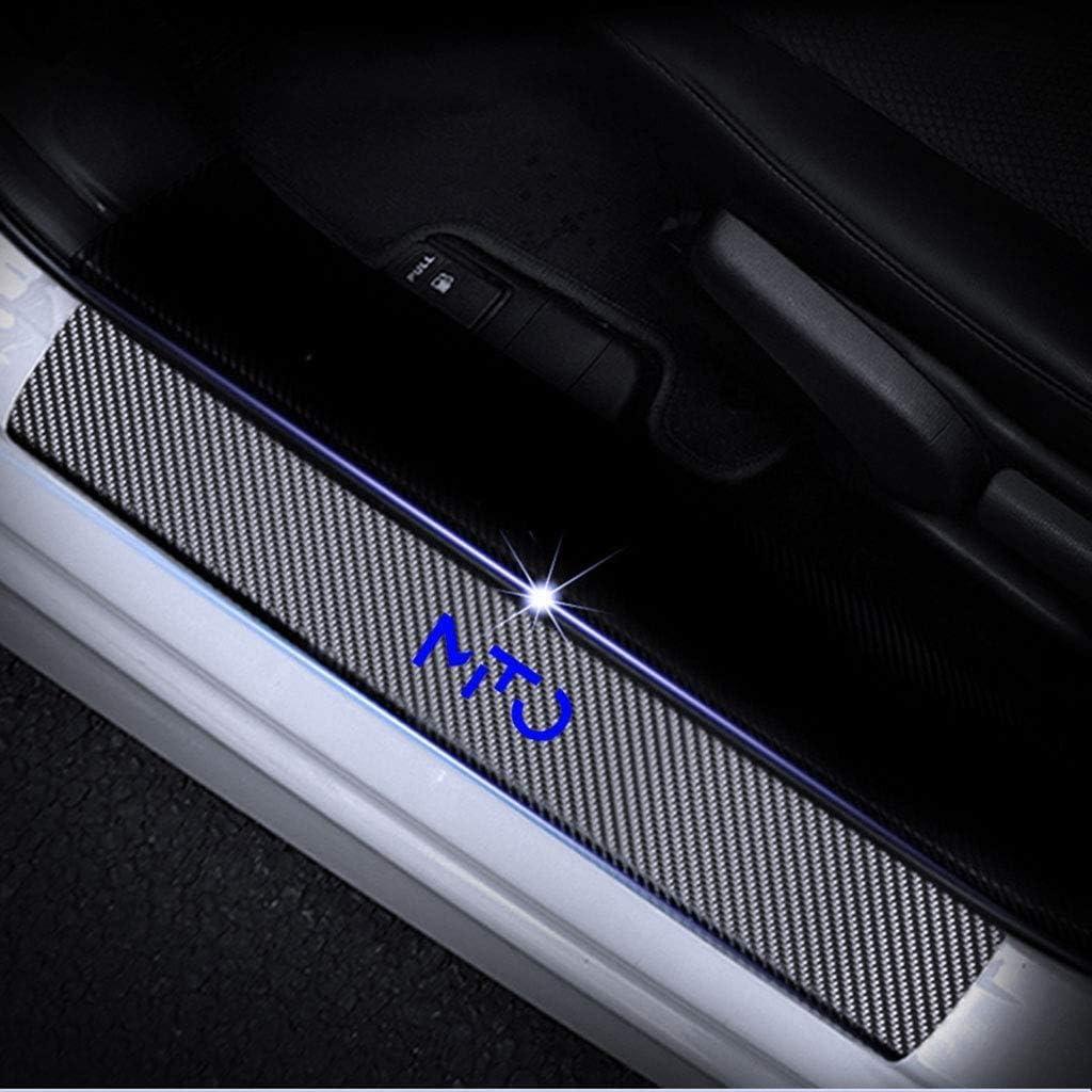 per Alfa Romeo Mito Protezioni Pedali battitacco modanature Adesivi di Protezione Copertura soglia Protettiva SKNB 4 Pezzi in Fibra di Carbonio battitacco battitacco battitacco Blu
