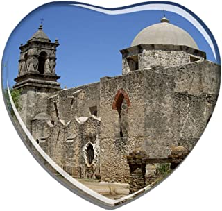 Hqiyaols Souvenir Portugal San Miguel Refrigerator Magnet Heart-shaped Crystal Fridge Magnet Sticker Travel Gift Collection Souvenir