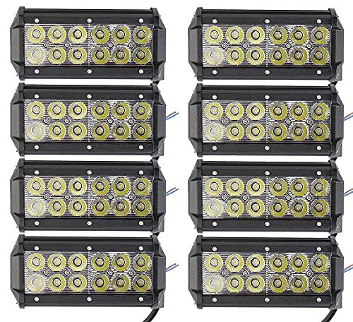 ALPHA DIMA 8X 36W Phare de Travail LED Lampe Work Light IP67 Phare Véhicule Tout-Terrain 12V 24V Lumière LED pour Voiture SUV ATV Tracteur Camion 4x4